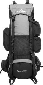 Camping backpack with many pockets for camping gear