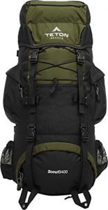 Large hiking backpack with a solid frame