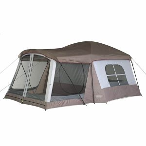Tent with a large porch for dry, bug free entry