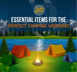 20 essential camping items sidebar promo
