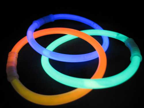 Glow sticks are great for entertaining kids at night time while camping