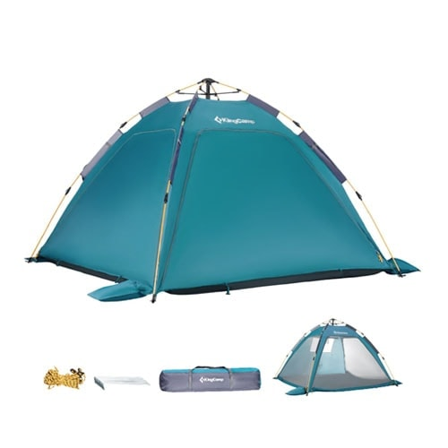 KingCamp Quick up 2-3 Person Camping Mesh Beach Tent, Sun Shelter UPF 50+
