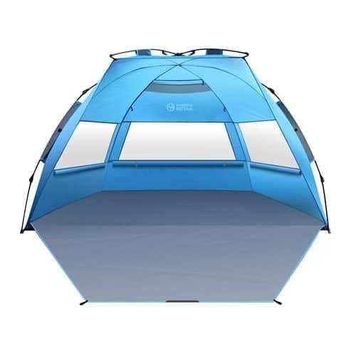 OutdoorMaster Pop Up Beach Tent XL - Easy Setup