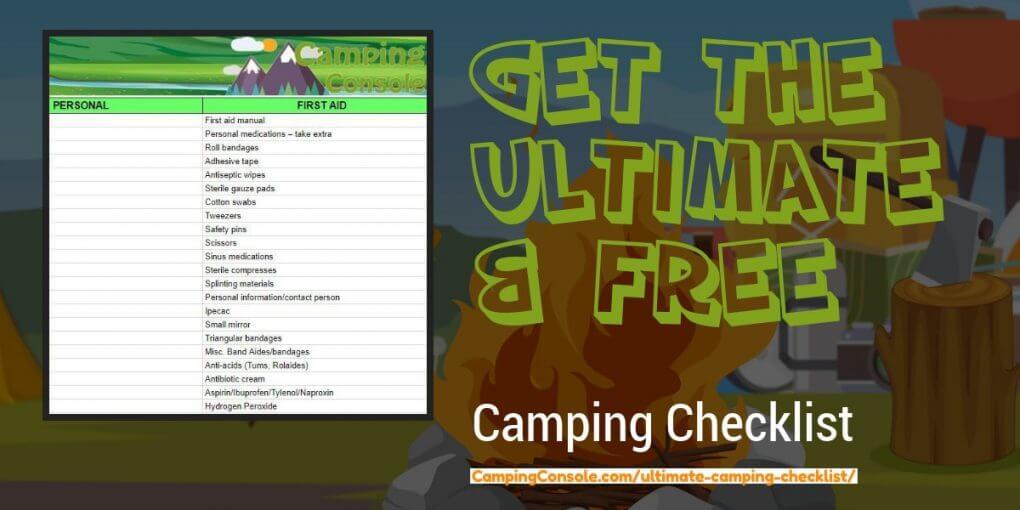 Camping checklist pdf