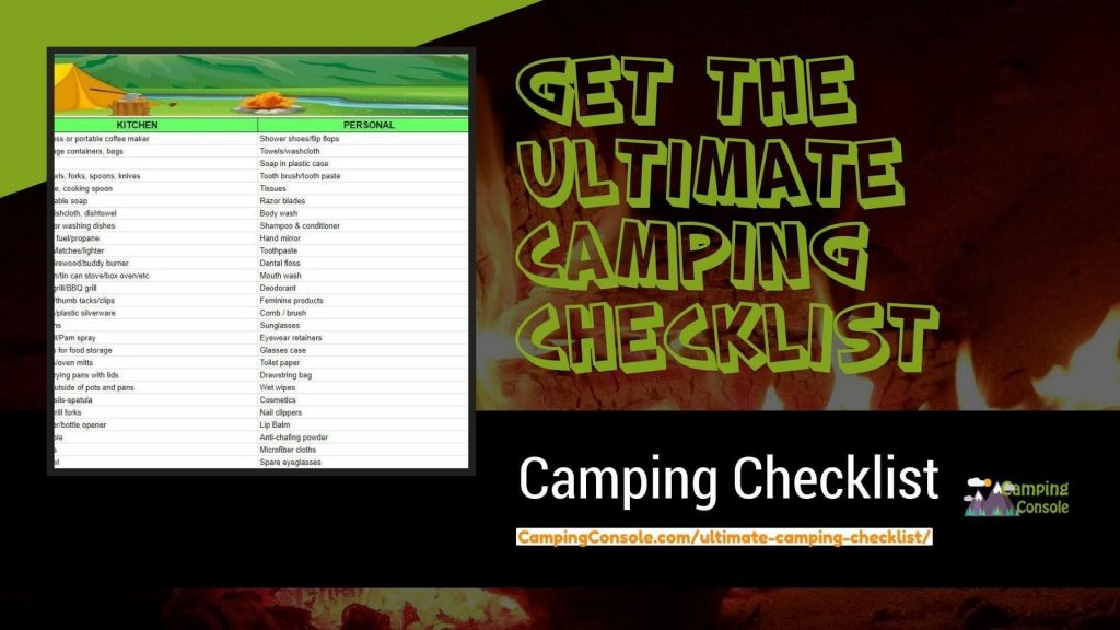 ultimate camping list pdf