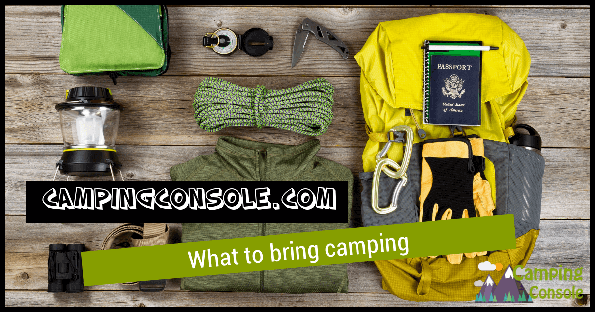 what to bring camping