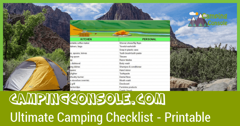 get the ultimate camping checklist