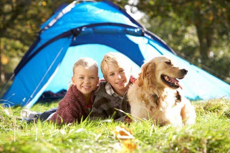 be flexible when camping with children