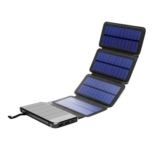 Solar Phone Charger 10.000mAh Power Bank-Portable Smartphone & iPhone Battery