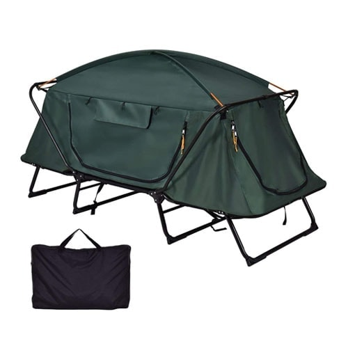 Tangkula Tent Cot Folding Waterproof 1 Person Hiking Camping Tent with Carry Bag