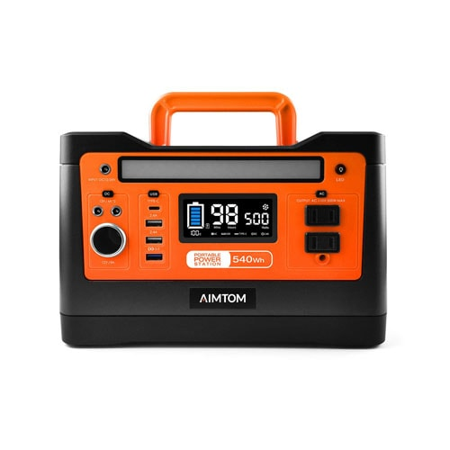 AIMTOM 540Wh Portable Power Station for Outdoor RV Camping