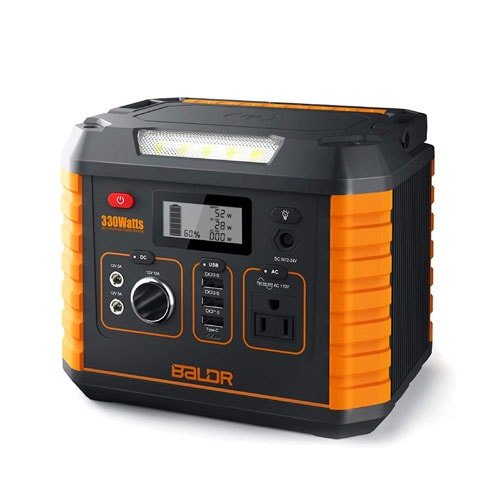 BALDR Portable Power Station 330W, Solar Generators for Outdoor Camping
