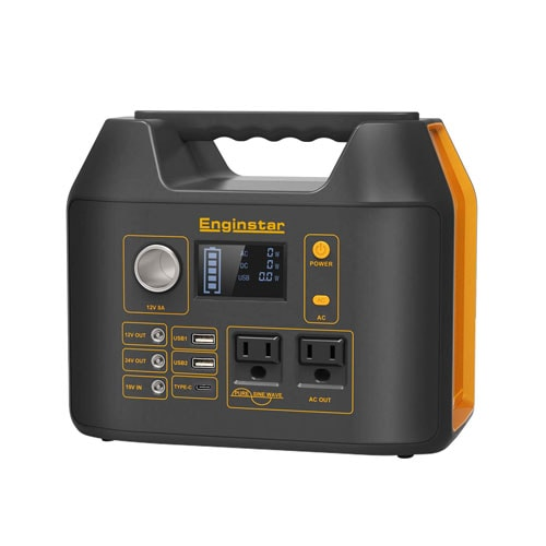 Enginstar Portable Power Station 298Wh, Backup Camping Lithium Battery Pack