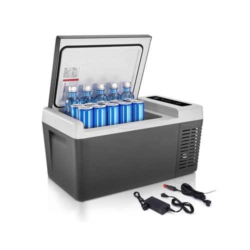 F40C4TMP Portable Freezer, Mini Fridge 18L(20 Quart) with DC 12V-24V and AC
