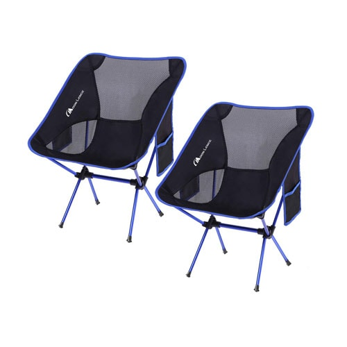MOON LENCE Outdoor Ultralight Portable Folding Camping Chairs with Carry Bag
