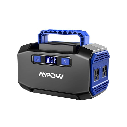 OMORC Mpow Portable Power Station 167Watts Rechargeable Solar Camping Generators