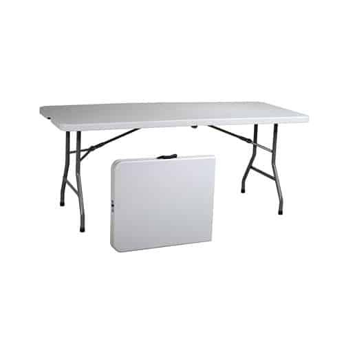 Office Star Resin Multipurpose Rectangle Table, 6-Feet, Center Folding