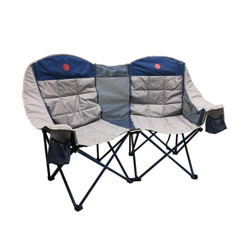 OmniCore Designs Heavy Duty Oversized Folding Double Camp Chair