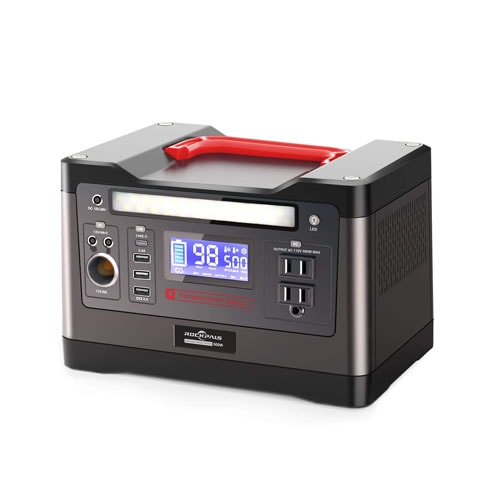 ROCKPALS 500W Portable Power Station, Solar Generator with 110V AC Outlet