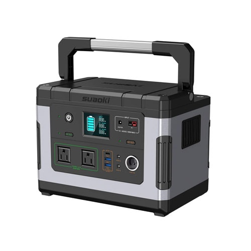 SUAOKI Solar Generators, G500 Portable Power Station 500Wh Camping Generator