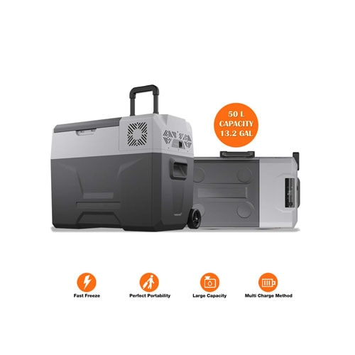 cho Power Sports Portable Freezer Cooler AC-DC Compressor Refrigerator
