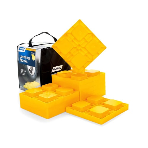 Camco Heavy Duty Leveling Blocks, Ideal For Leveling Single and Dual Wheels (10 pack)