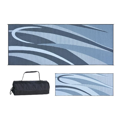 Ming's Mark GC1 Black-Silver 8-Feet x 20-Feet Graphic Mat