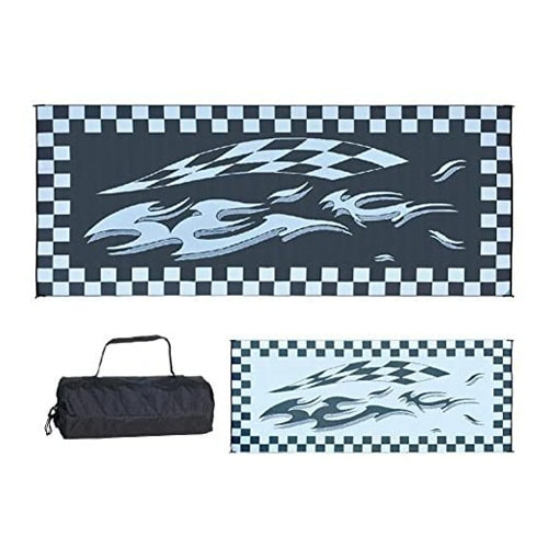 Ming's Mark HC1 8-Feet x 20-Feet Black Checker Flag Mat