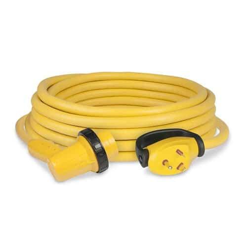 ParkPower 30RPCRV Yellow 125 V Marinco Amp, 125V 30 Ft Right Angle Cordset