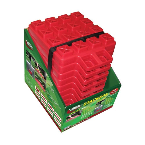 Valterra Red A10-0918 Stackers Leveler-Jack Pad-10 Pack