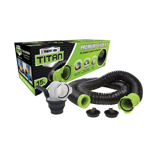 TITAN 17853 15ft 15-Foot Premium RV Sewer Hose Kit-Thetford