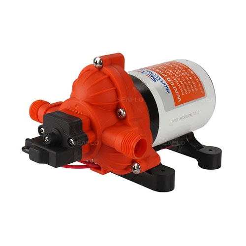 Water Diaphragm Self Priming Pump 3.0 Gallons-min (11.3 Lpm) 45 PSI New Rv-Marine 12 Volt Dc - 12 V