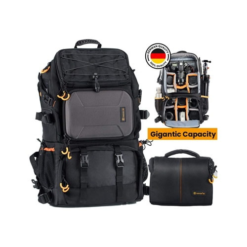 TARION Pro 2 Bags in 1 Camera Backpack Large
