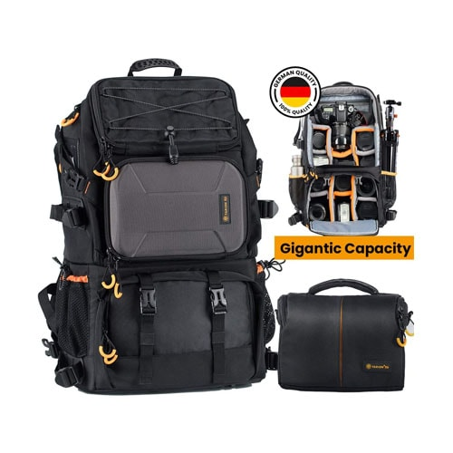 TARION Pro 2 Bags in 1 Camera Backpack